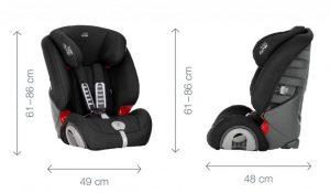 Asiento para coche infantil - Britax Romer Evolva 1-2-3 medidas