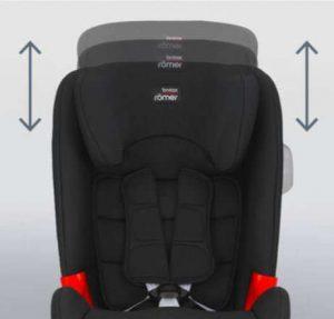 Asiento para el coche - Britax Romer Evolva 1-2-3 reposacabezas ajustable