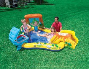 Piscina hinchable para niños - Intex 57444NP - Centro juegos hinchable dinosaurio