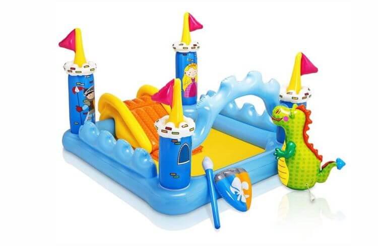 piscina para niño Castillo con Tobogan Inflable