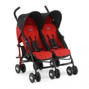 Chicco Echo Twin – Silla de paseo gemelar (13,4 kg, homologada desde los 0 m), color rojo