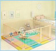 Star Ibaby Natural – Parque de bebés XL, 8 piezas